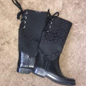 Black COACH rainboots !!!